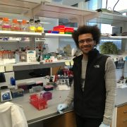 Aaron Joiner in lab
