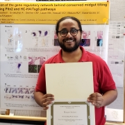 Bhargav Sanketi with his winning poster