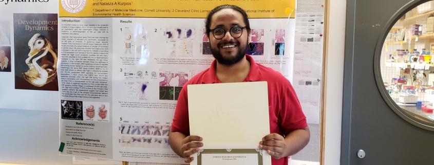 Bhargav Sanketi with his winning poster