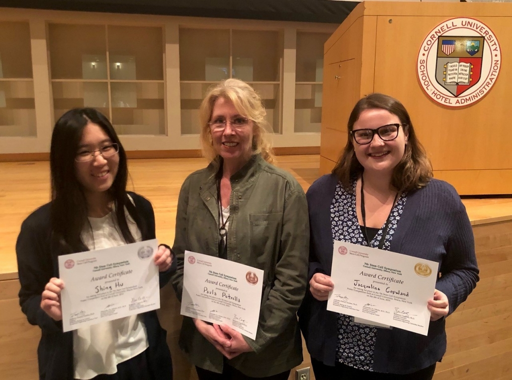 Winners of Poster prizes at Cornell Stem Cell Symposium 2019