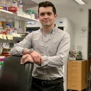 Ethan Sanford in lab